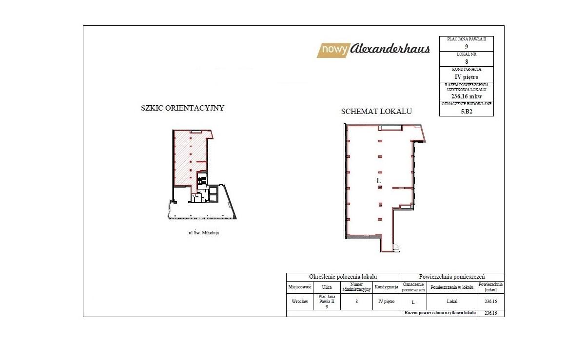 Biurowiec w inwestycji Nowy Alexanderhaus, Wrocław, 236 m²   Morizon.pl   6530