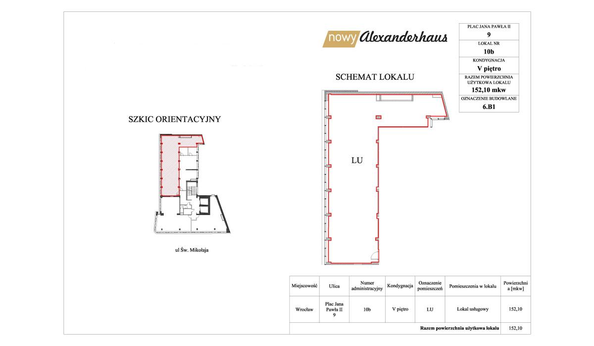 Biurowiec w inwestycji Nowy Alexanderhaus, Wrocław, 152 m²   Morizon.pl   6531