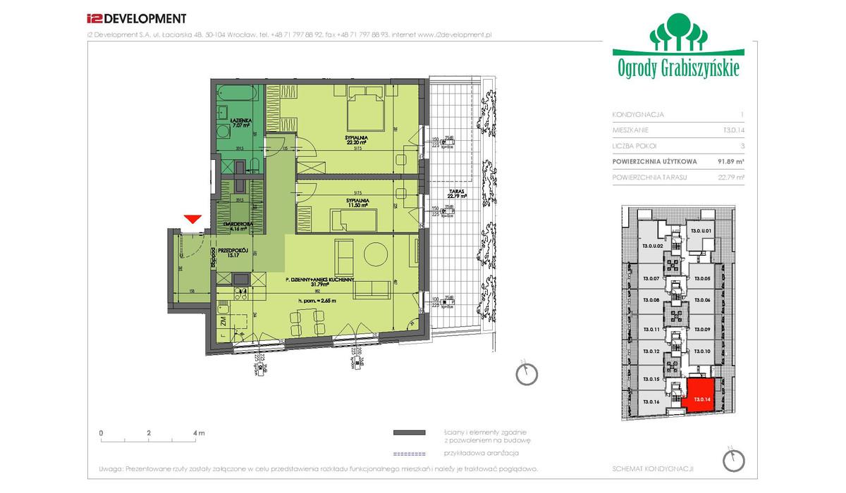 Mieszkanie w inwestycji Ogrody Grabiszyńskie, Wrocław, 92 m² | Morizon.pl | 4550