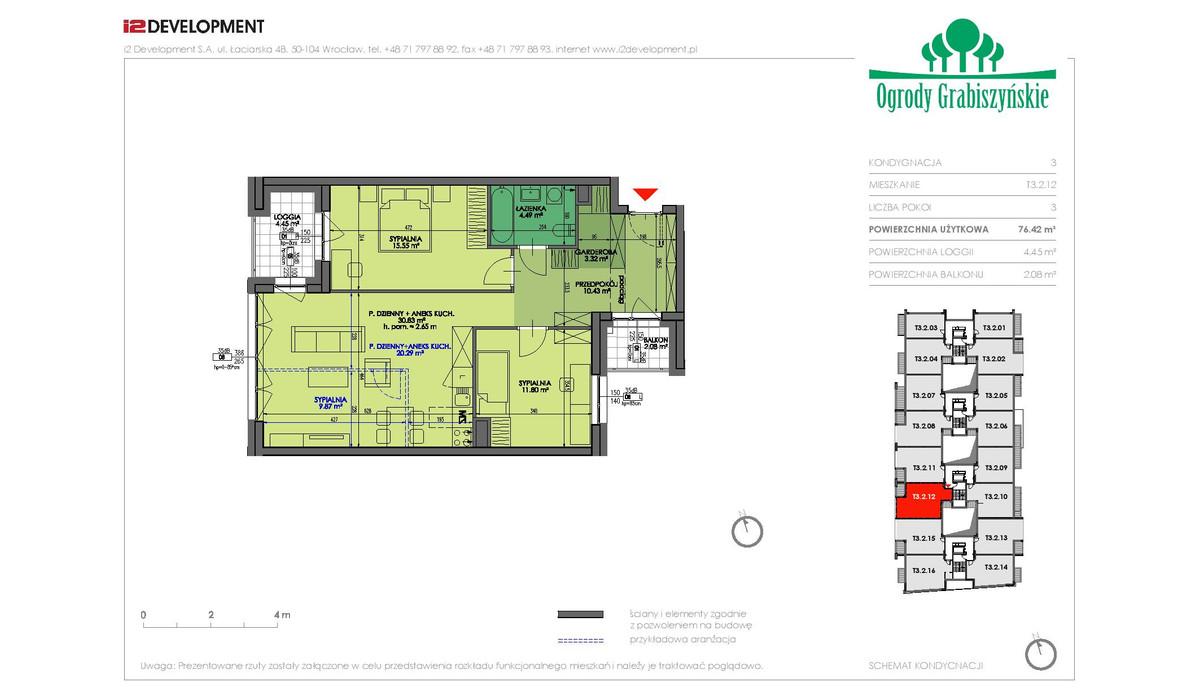 Mieszkanie w inwestycji Ogrody Grabiszyńskie, Wrocław, 76 m² | Morizon.pl | 4580