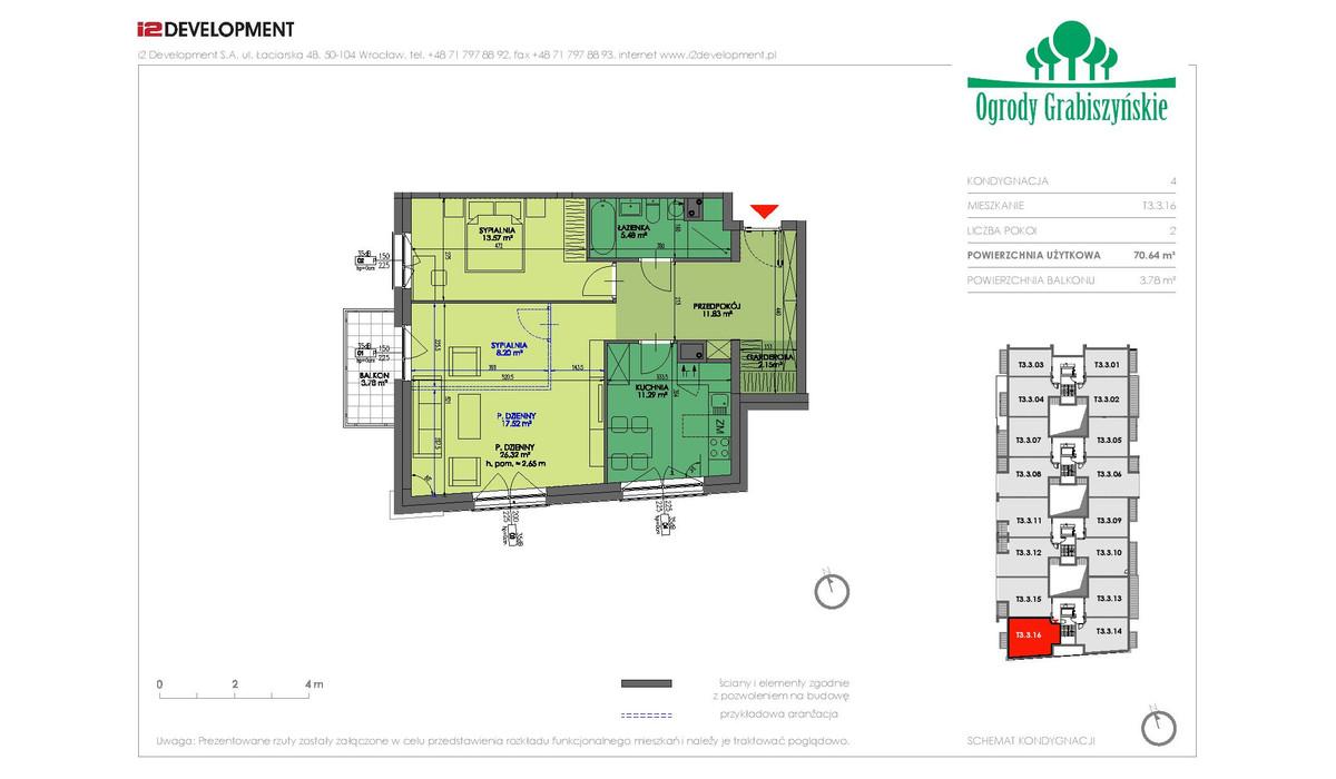Mieszkanie w inwestycji Ogrody Grabiszyńskie, Wrocław, 70 m² | Morizon.pl | 4500