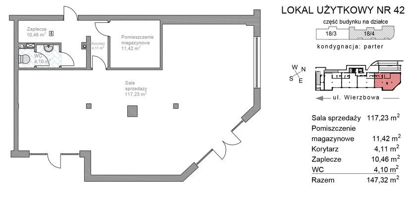 Lokal usługowy w inwestycji WIERZBOWA 5 POZNAŃ, Poznań, 147 m²   Morizon.pl   6084