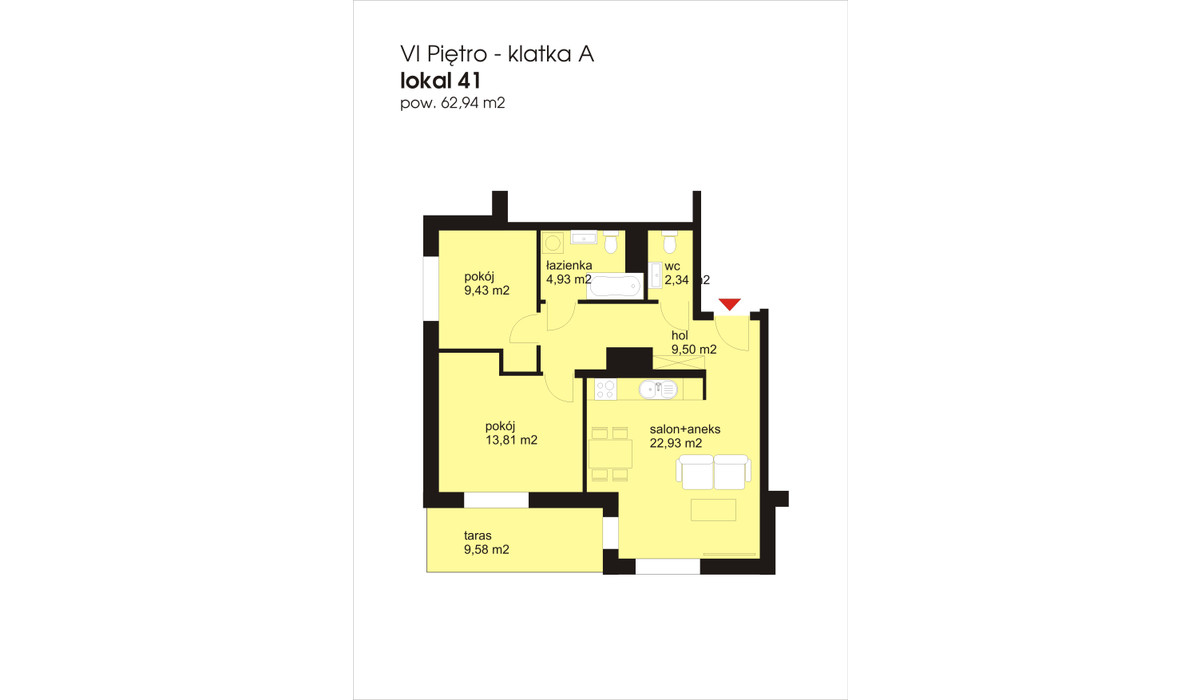 Mieszkanie w inwestycji IVY TOWERS3, Łódź, 63 m² | Morizon.pl | 2042