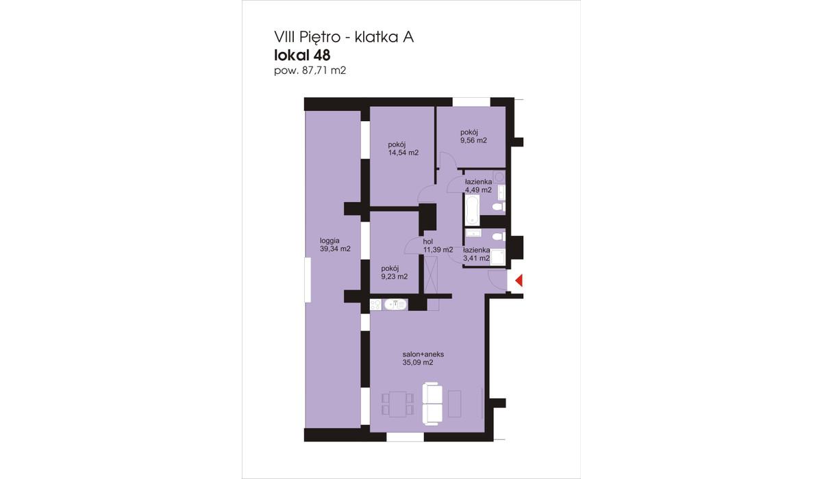 Mieszkanie w inwestycji IVY TOWERS3, Łódź, 88 m² | Morizon.pl | 2049