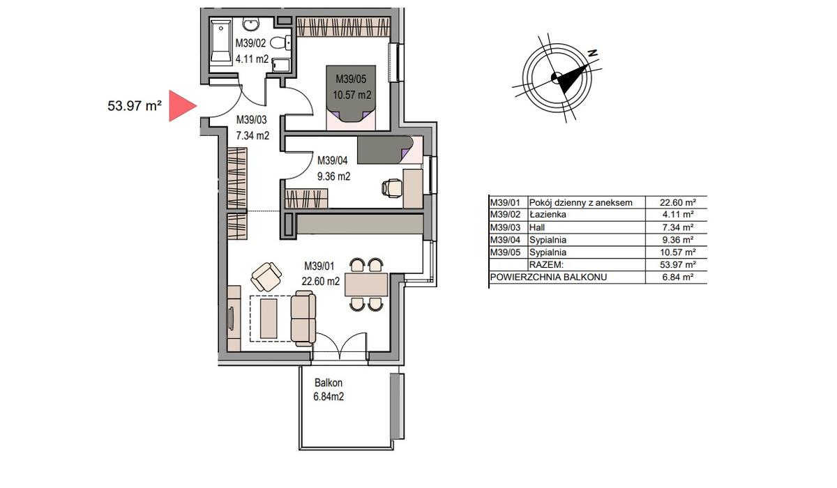 Mieszkanie w inwestycji Dębniki/Ruczaj, Kraków, 54 m² | Morizon.pl | 7490