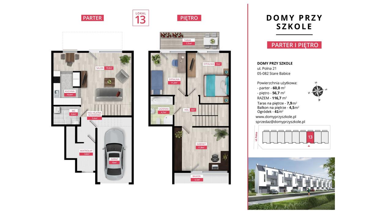 Mieszkanie w inwestycji Domy Przy Szkole, Stare Babice, 117 m² | Morizon.pl | 4900