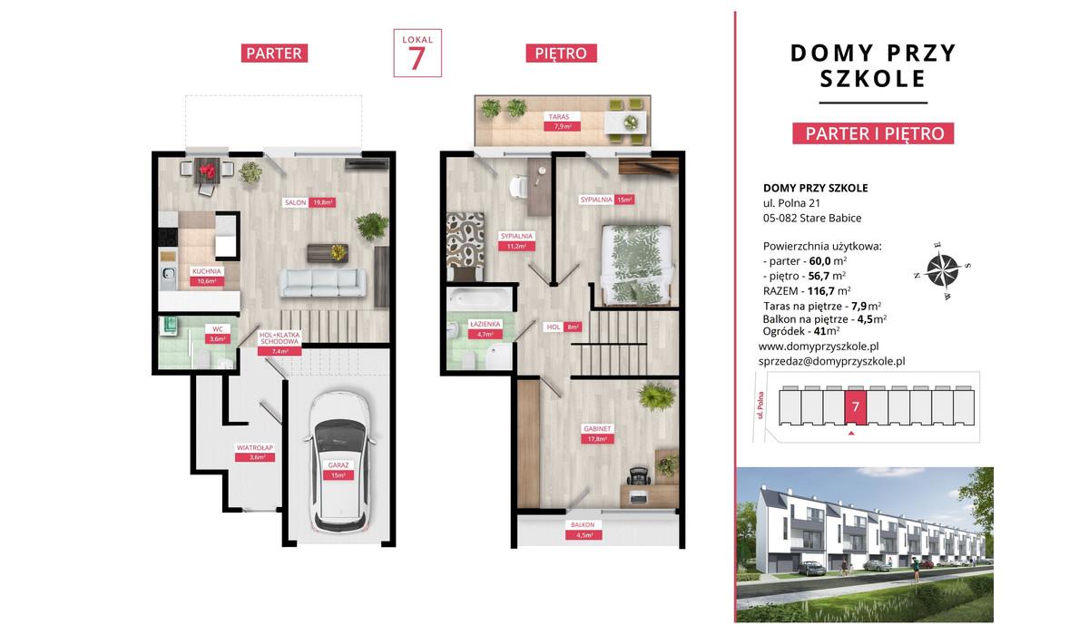 Mieszkanie w inwestycji Domy Przy Szkole, Stare Babice, 116 m² | Morizon.pl | 5009