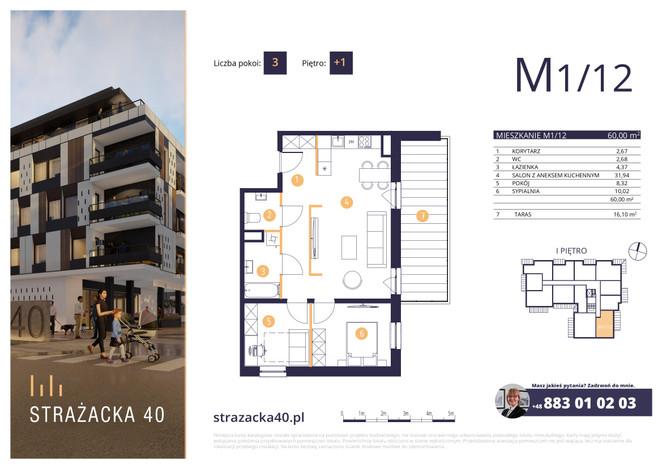 Mieszkanie w inwestycji Strażacka 40, Rzeszów, 60 m² | Morizon.pl | 2948