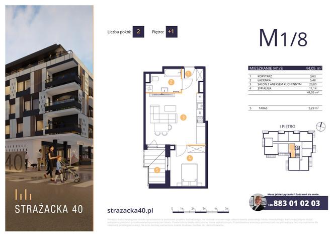 Mieszkanie w inwestycji Strażacka 40, Rzeszów, 44 m² | Morizon.pl | 2955