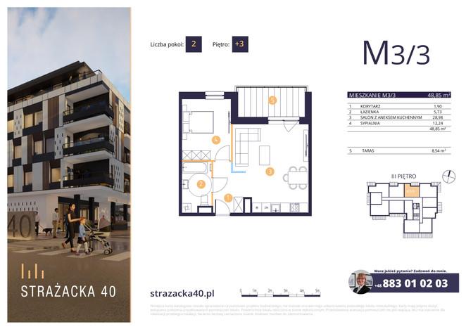 Mieszkanie w inwestycji Strażacka 40, Rzeszów, 49 m² | Morizon.pl | 2973