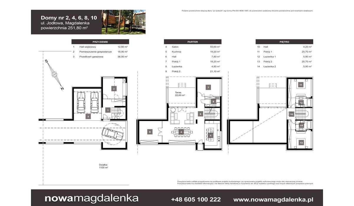 Dom w inwestycji Nowa Magdalenka, Magdalenka, 252 m² | Morizon.pl | 2213