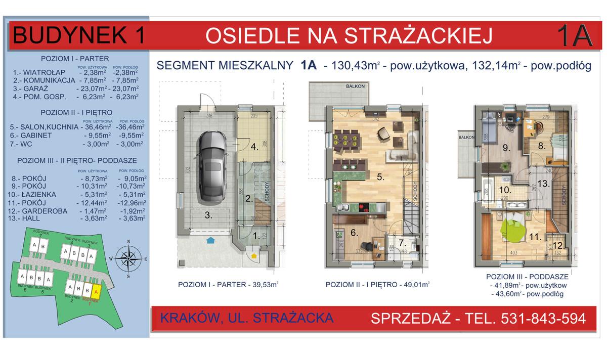 Dom w inwestycji Osiedle na Strażackiej, Kraków, 130 m²   Morizon.pl   2156