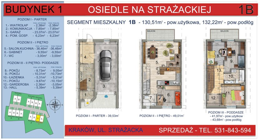 Dom w inwestycji Osiedle na Strażackiej, Kraków, 130 m² | Morizon.pl | 2157
