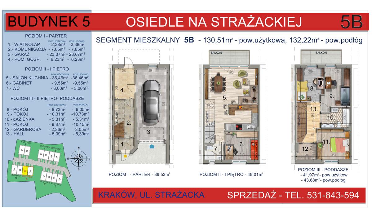 Dom w inwestycji Osiedle na Strażackiej, Kraków, 130 m² | Morizon.pl | 2165