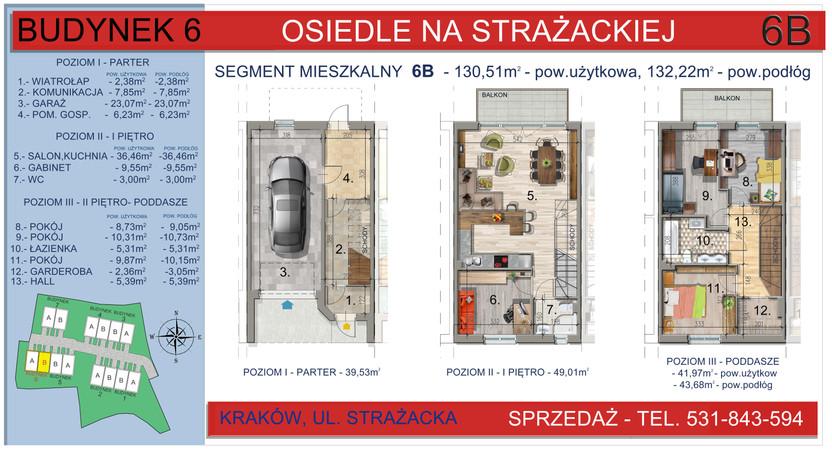 Dom w inwestycji Osiedle na Strażackiej, Kraków, 130 m² | Morizon.pl | 2167