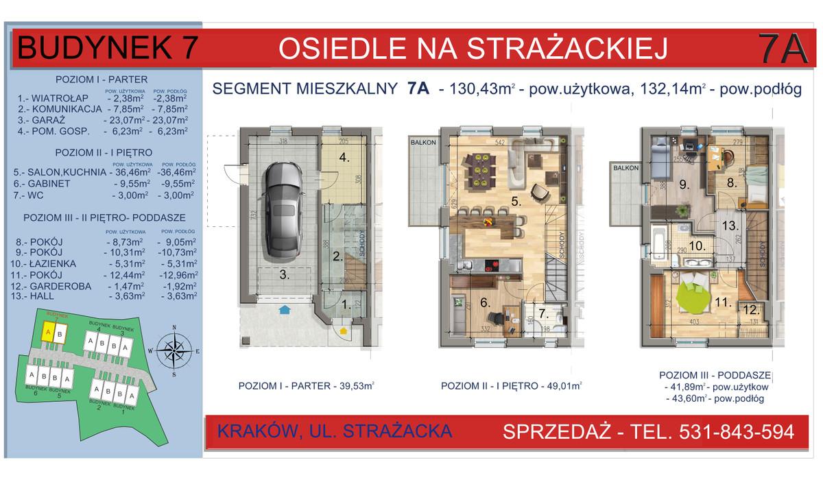 Dom w inwestycji Osiedle na Strażackiej, Kraków, 130 m²   Morizon.pl   2168