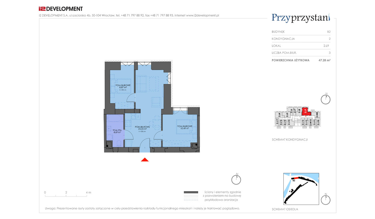 Mieszkanie w inwestycji Przy przystani, Wrocław, 47 m² | Morizon.pl | 7358