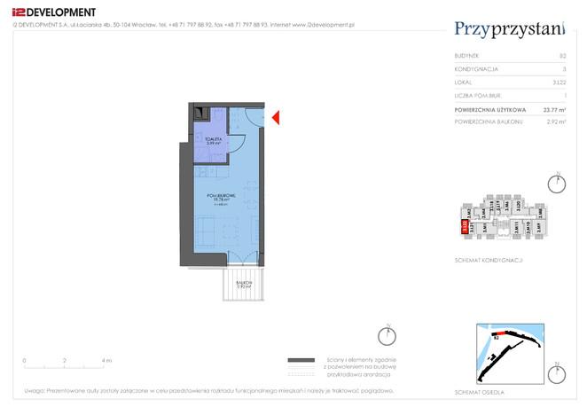 Mieszkanie w inwestycji Przy przystani, Wrocław, 24 m²   Morizon.pl   7363