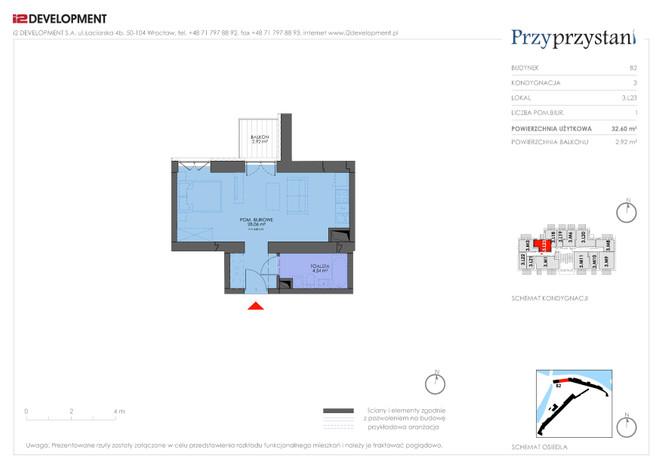 Mieszkanie w inwestycji Przy przystani, Wrocław, 33 m² | Morizon.pl | 7364