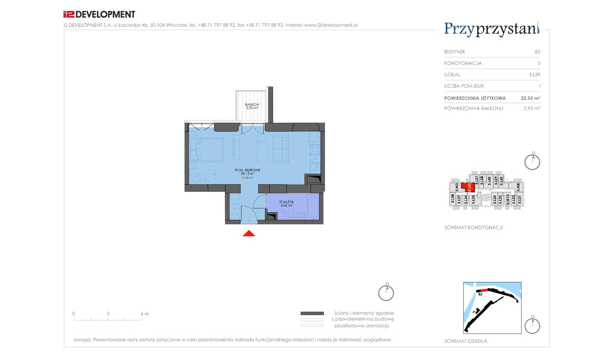 Mieszkanie w inwestycji Przy przystani, Wrocław, 33 m² | Morizon.pl | 7379