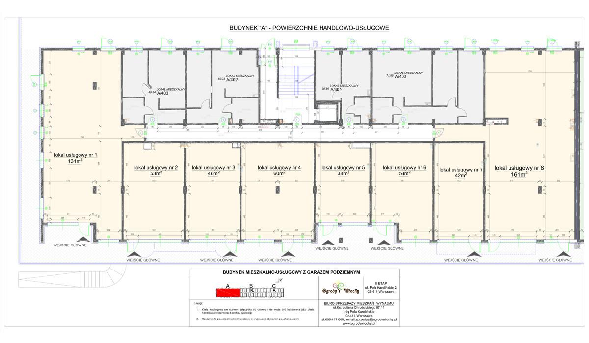 Komercyjne w inwestycji OGRODY WŁOCHY 3 ETAP - komercja, Warszawa, 64 m² | Morizon.pl | 0350