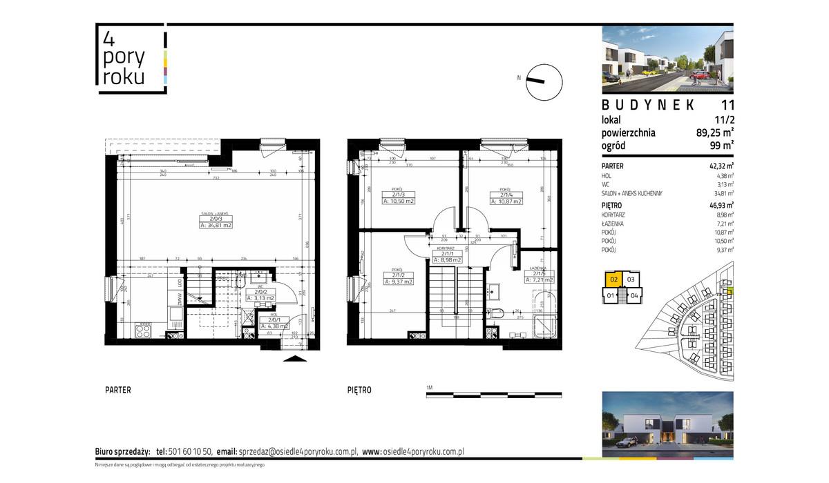 Dom w inwestycji Osiedle 4 Pory Roku, Gowarzewo, 89 m² | Morizon.pl | 1075