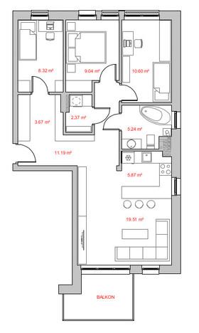 Mieszkanie w inwestycji Panorama II, Rybnik, 78 m² | Morizon.pl | 2078
