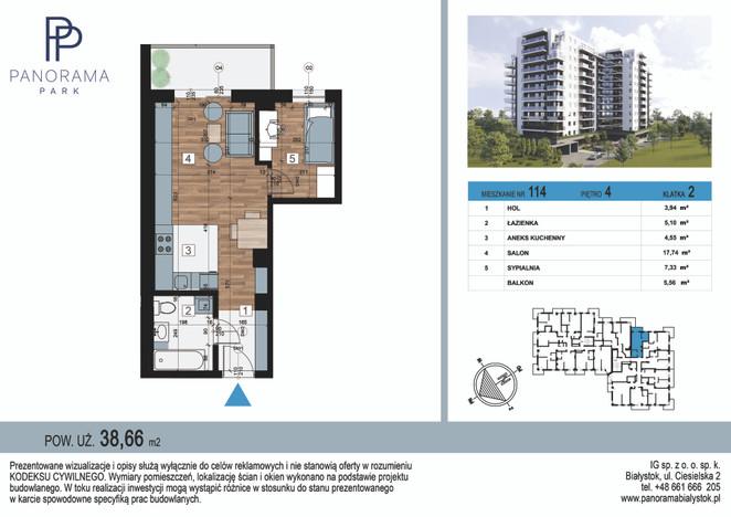 Mieszkanie w inwestycji Panorama Park, Białystok, 39 m² | Morizon.pl | 1412