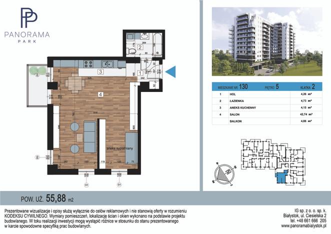 Mieszkanie w inwestycji Panorama Park, Białystok, 56 m² | Morizon.pl | 1436