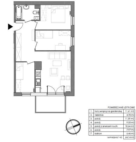 Mieszkanie w inwestycji Signum, Gdynia, 67 m²   Morizon.pl   0157