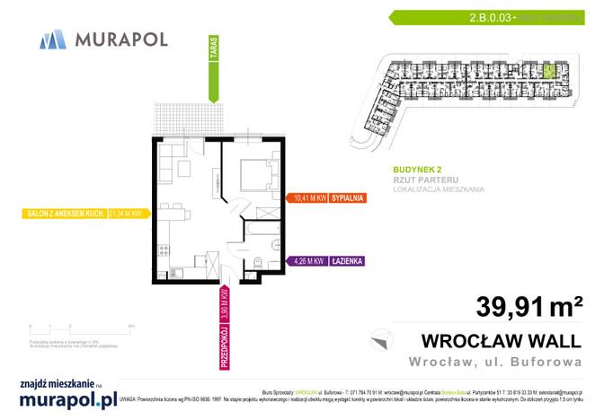 Mieszkanie w inwestycji Murapol Zielona Toskania, Wrocław, 40 m² | Morizon.pl | 3732