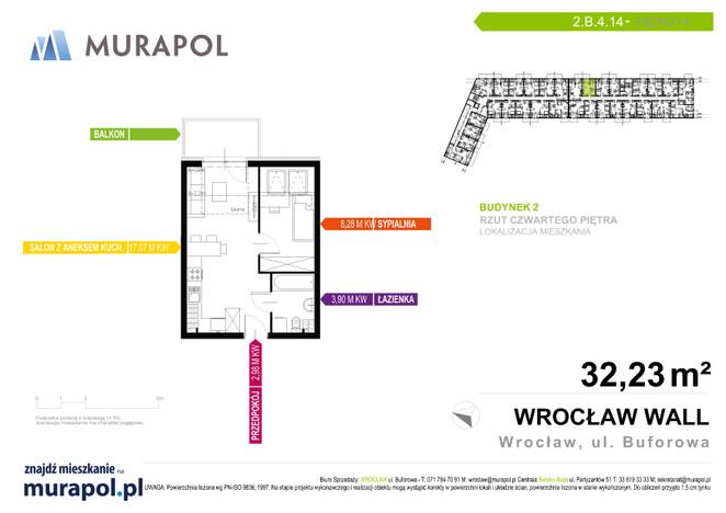 Mieszkanie w inwestycji Murapol Zielona Toskania, Wrocław, 32 m² | Morizon.pl | 3867