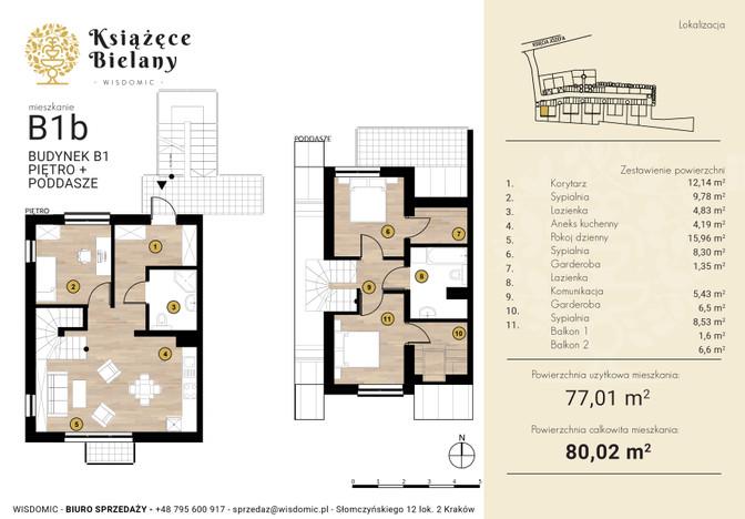 Mieszkanie w inwestycji Książęce Bielany, Kraków, 80 m²   Morizon.pl   8334