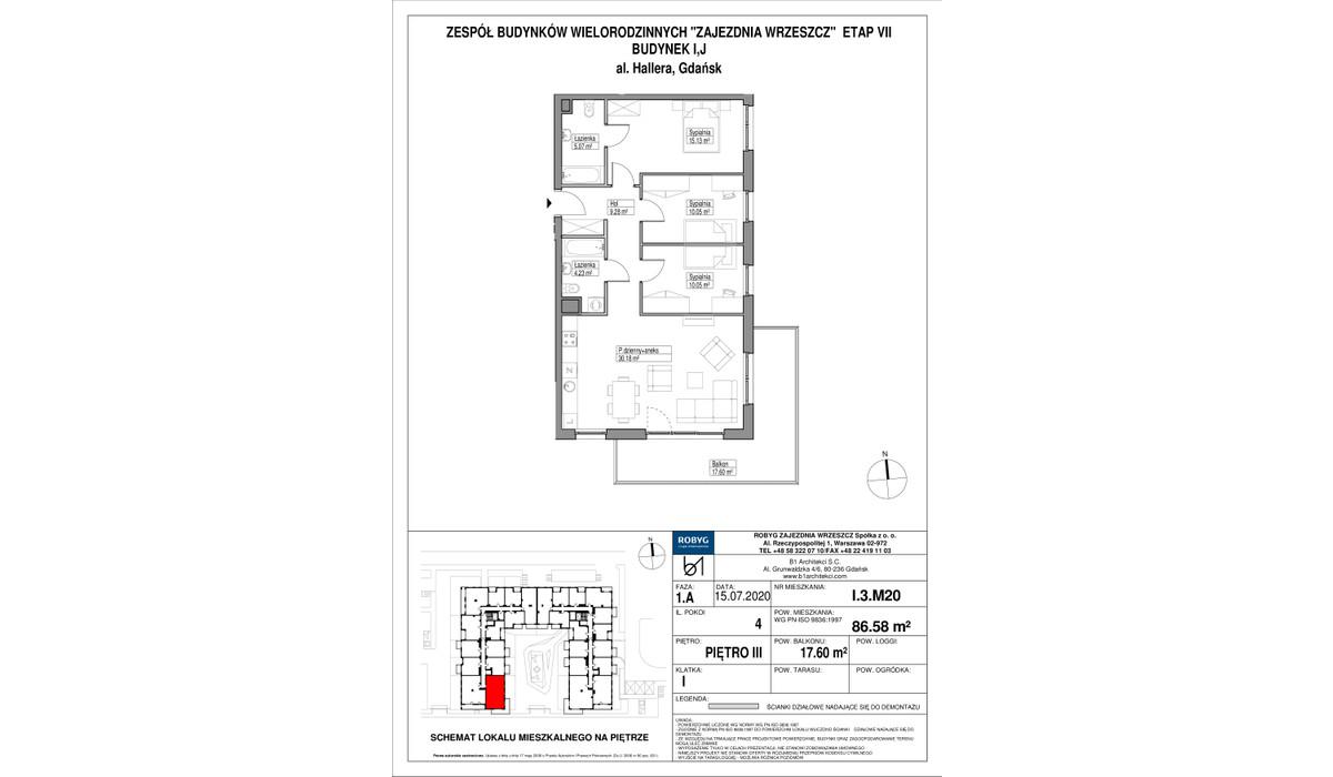 Mieszkanie w inwestycji Zajezdnia Wrzeszcz, Gdańsk, 87 m²   Morizon.pl   2201