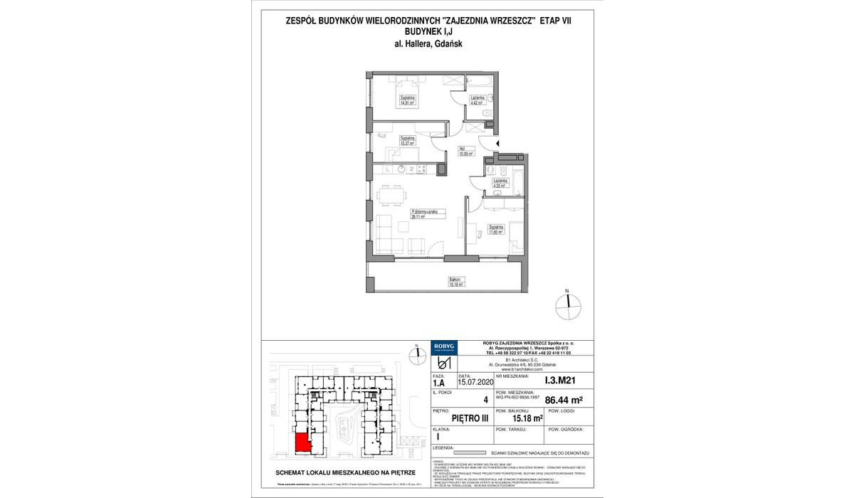 Mieszkanie w inwestycji Zajezdnia Wrzeszcz, Gdańsk, 86 m²   Morizon.pl   2202
