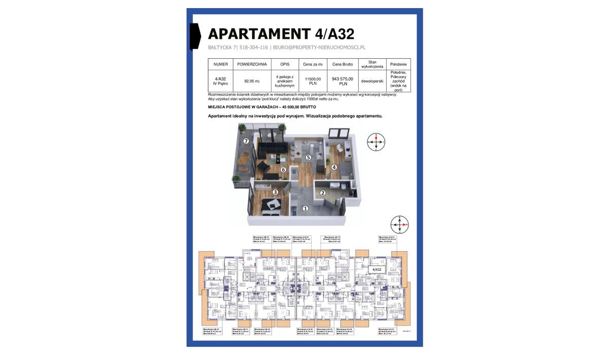 Mieszkanie w inwestycji KAPITAŃSKI MOSTEK, Kołobrzeg, 82 m² | Morizon.pl | 5249