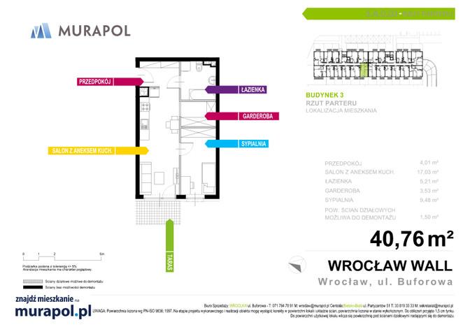 Mieszkanie w inwestycji Murapol Zielona Toskania, Wrocław, 39 m² | Morizon.pl | 3872