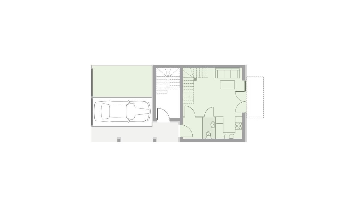 Dom w inwestycji Domy Dachowa, Dachowa, 58 m² | Morizon.pl | 9647
