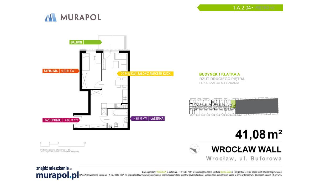 Mieszkanie w inwestycji Murapol Zielona Toskania, Wrocław, 41 m² | Morizon.pl | 7063