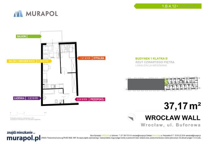 Mieszkanie w inwestycji Murapol Zielona Toskania, Wrocław, 37 m² | Morizon.pl | 7177