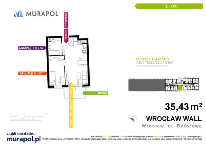 Mieszkanie w inwestycji Murapol Zielona Toskania, Wrocław, 35 m²   Morizon.pl   7158
