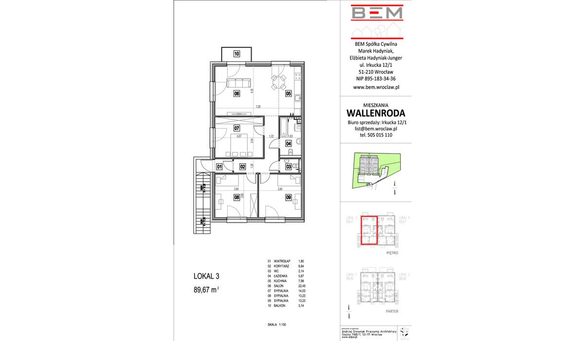 Mieszkanie w inwestycji Wallenroda, Wrocław, 88 m²   Morizon.pl   0696