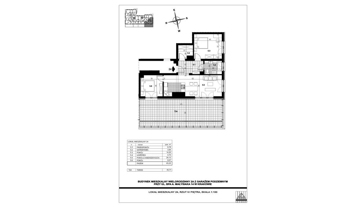 Mieszkanie w inwestycji ul. bpa A. Małysiaka, Kraków, 59 m² | Morizon.pl | 5818
