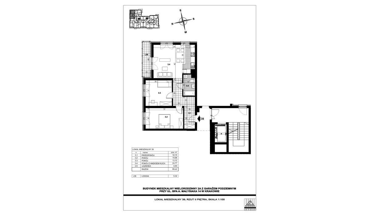 Mieszkanie w inwestycji ul. bpa A. Małysiaka, Kraków, 69 m² | Morizon.pl | 5830