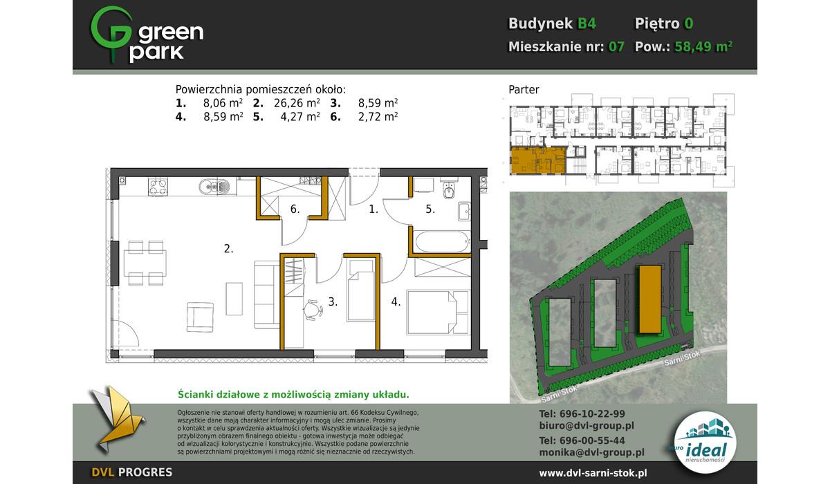 Mieszkanie w inwestycji Nowe Apartamenty Green Park, Bielsko-Biała, 58 m² | Morizon.pl | 2641