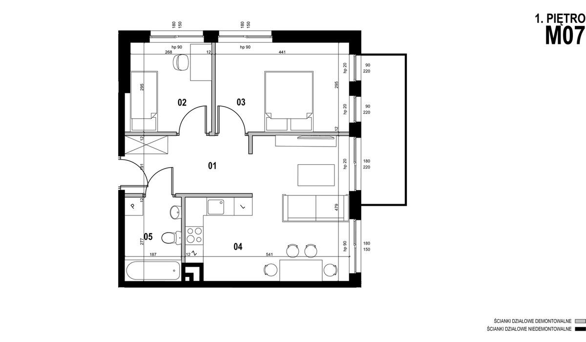 Mieszkanie w inwestycji MEHOFFERA, Warszawa, 57 m² | Morizon.pl | 1013