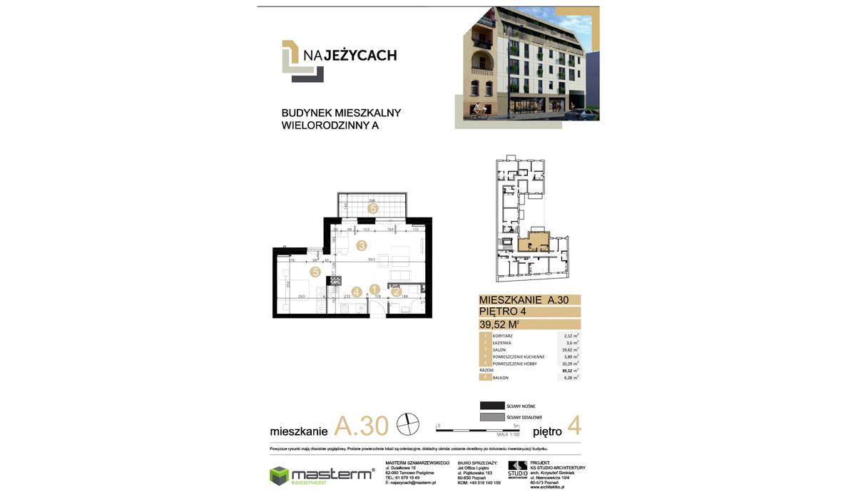 Mieszkanie w inwestycji NA JEŻYCACH, Poznań, 40 m² | Morizon.pl | 0902