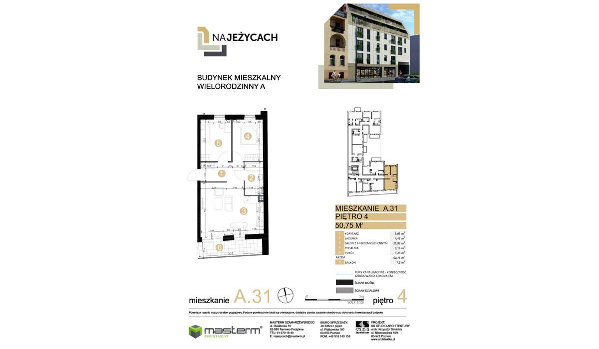 Mieszkanie w inwestycji NA JEŻYCACH, Poznań, 51 m² | Morizon.pl | 0903