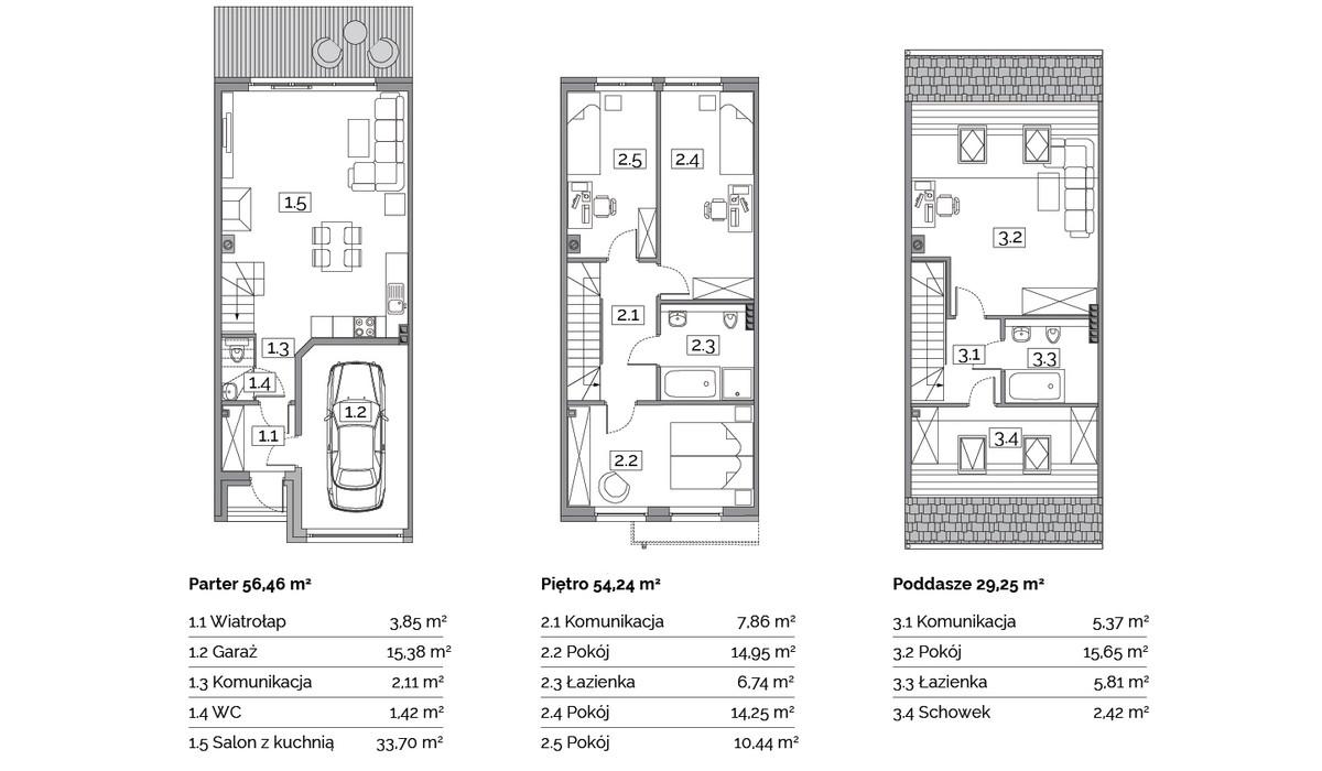 Dom w inwestycji Osiedle Na Wspólnej, Radomierzyce, 141 m² | Morizon.pl | 2897