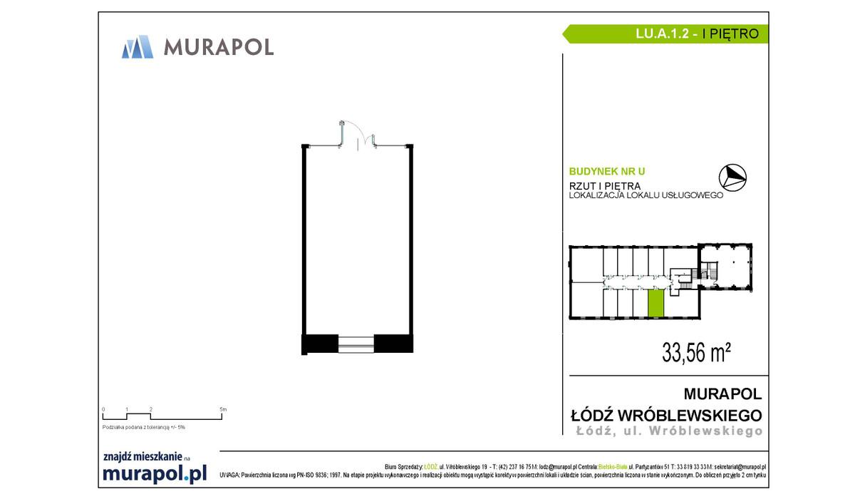 Komercyjne w inwestycji Nowa Przędzalnia - lokale usługowe, Łódź, 34 m² | Morizon.pl | 1059